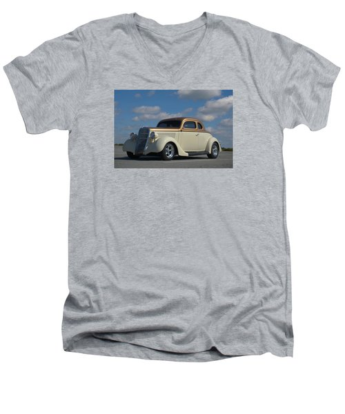 Men's V-Neck T-Shirt featuring the photograph 1935 Ford Coupe Hot Rod by Tim McCullough