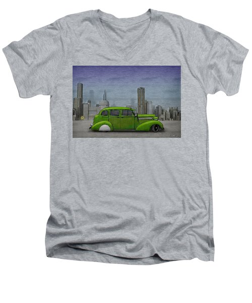 1936 Buick  Men's V-Neck T-Shirt by Ken Morris