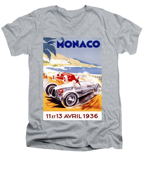 1936 F1 Monaco Grand Prix  Men's V-Neck T-Shirt