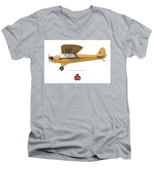 1939 Piper J3 Cub Men's V-Neck T-Shirt