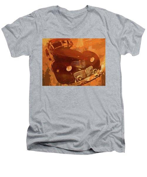 1940 Hupp Skylark Orange Pop Men's V-Neck T-Shirt