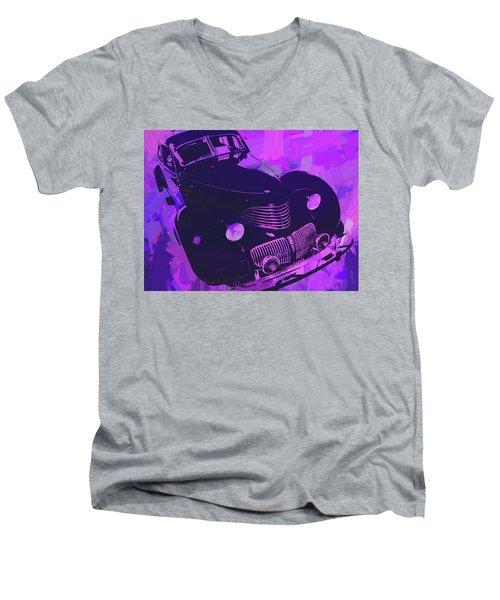 1940 Hupp Skylark Violet Pop Men's V-Neck T-Shirt
