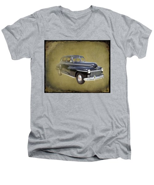 1946 Dodge D24c Sedan Men's V-Neck T-Shirt