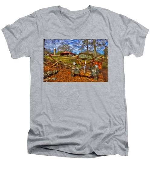 1947 Dodge Dump Truck Country Scene Art Men's V-Neck T-Shirt