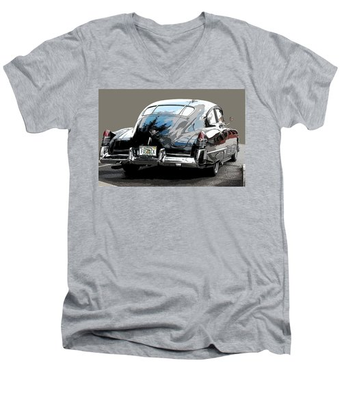 1948 Fastback Cadillac Men's V-Neck T-Shirt by Robert Meanor