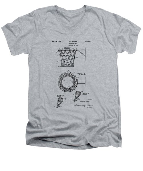1951 Basketball Net Patent Artwork - Vintage Men's V-Neck T-Shirt