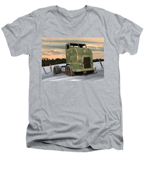 Men's V-Neck T-Shirt featuring the digital art 1951 Corbitt by Stuart Swartz