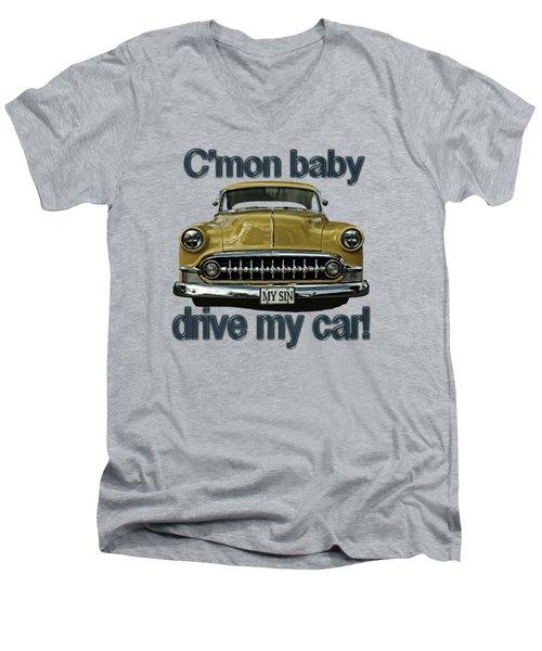 1953 Chevy Men's V-Neck T-Shirt