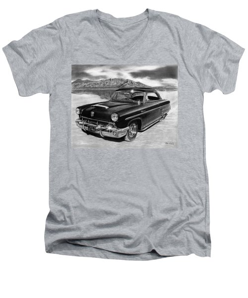 1953 Mercury Monterey On Bonneville Men's V-Neck T-Shirt