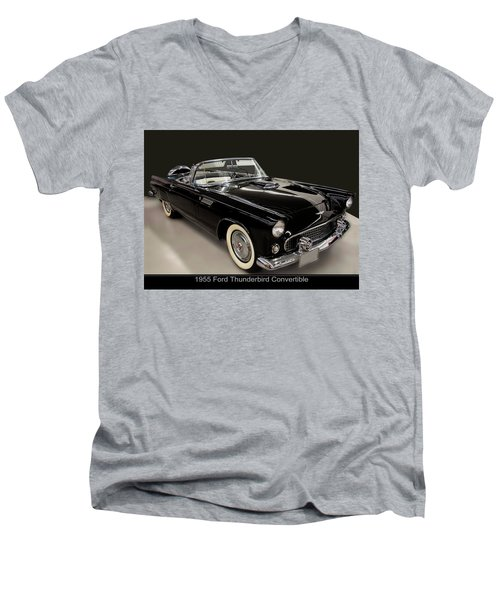 1955 Ford Thunderbird Convertible Men's V-Neck T-Shirt