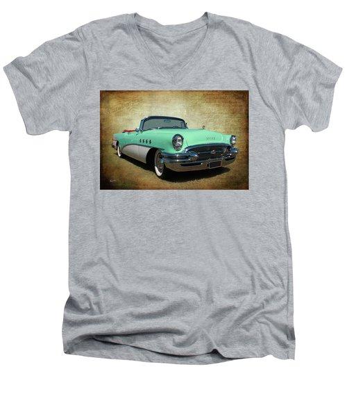 1955 Men's V-Neck T-Shirt by Keith Hawley