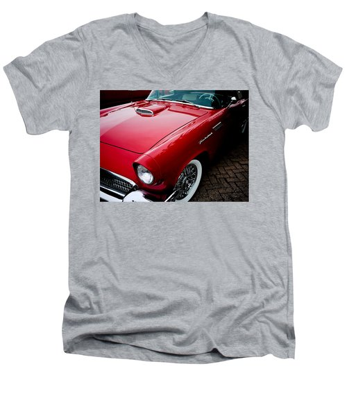 1956 Ford Thunderbird Men's V-Neck T-Shirt