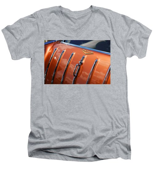 Men's V-Neck T-Shirt featuring the photograph 1957 Chevrolet Nomad by Gordon Dean II