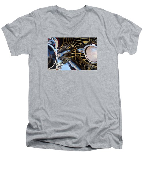 1957 Chevy Bel Air Grill Abstract 1 Men's V-Neck T-Shirt