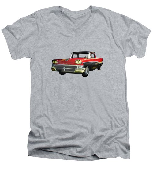1958 Ford Ranchero Watercolour Men's V-Neck T-Shirt