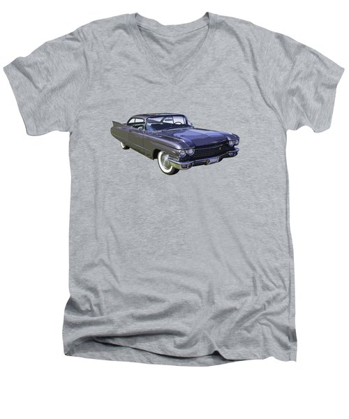 1960 Cadillac - Classic Luxury Car Men's V-Neck T-Shirt