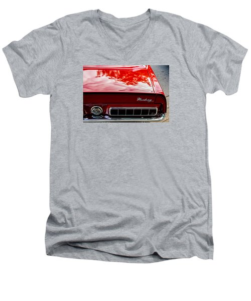 Men's V-Neck T-Shirt featuring the photograph 1967 Mustang by M G Whittingham