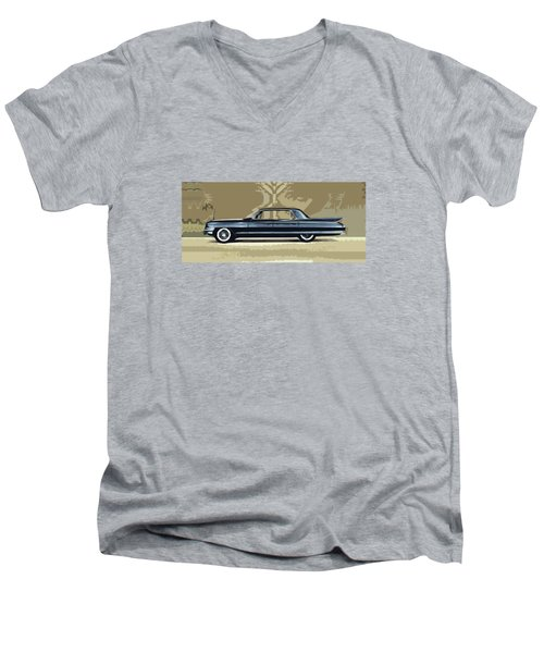 1961 Cadillac Fleetwood Sixty-special Men's V-Neck T-Shirt
