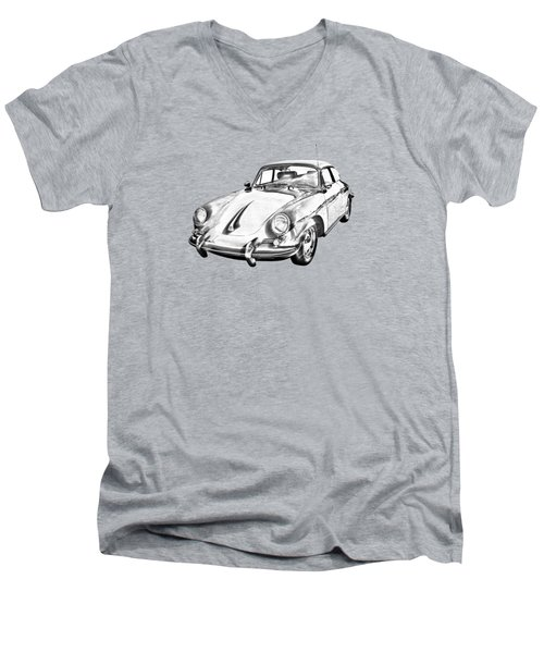 1962  Porsche 356 E Illustration Men's V-Neck T-Shirt