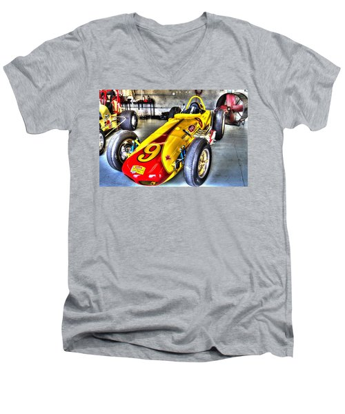 1963 Eddie Sachs Indy Car Men's V-Neck T-Shirt