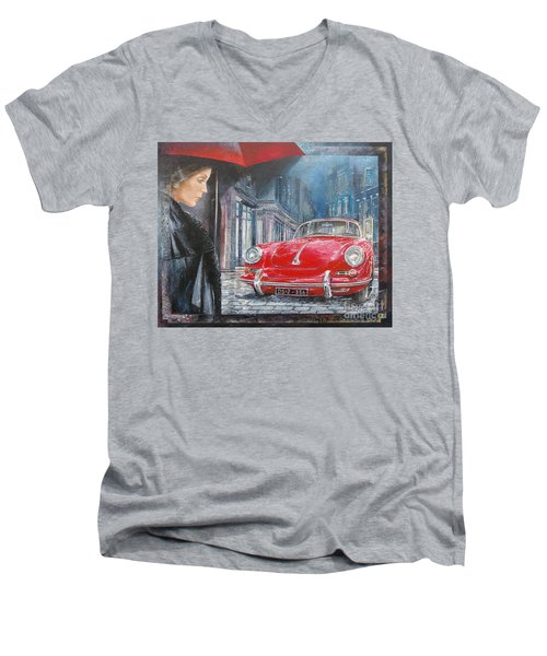 1964 Porsche 356 Coupe Men's V-Neck T-Shirt
