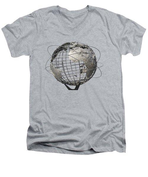 1964 World's Fair Unisphere Men's V-Neck T-Shirt by Bob Slitzan