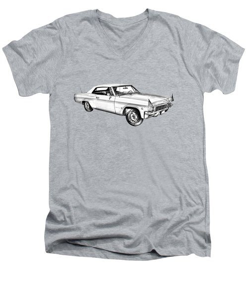 1965 Chevy Impala 327 Convertible Illuistration Men's V-Neck T-Shirt by Keith Webber Jr