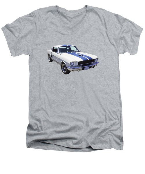 1965 Gt350 Mustang Muscle Car Men's V-Neck T-Shirt by Keith Webber Jr