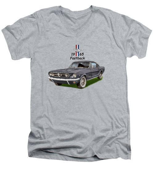 Mustang Fastback 1965 Men's V-Neck T-Shirt