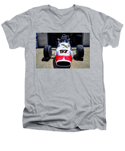1966 Gearhardt Rear Engine V8 Men's V-Neck T-Shirt by Josh Williams