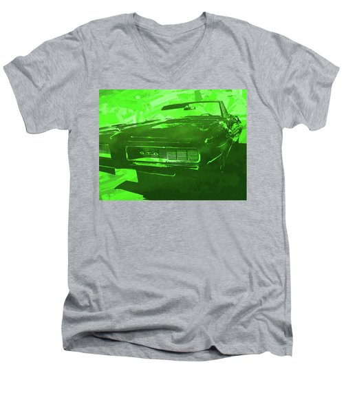 1969 Pontiac Gto Convertible Pop Green Men's V-Neck T-Shirt