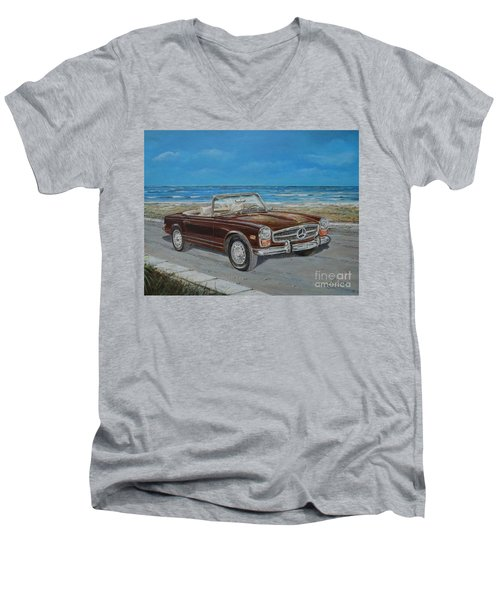 1970 Mercedes Benz 280 Sl Pagoda Men's V-Neck T-Shirt