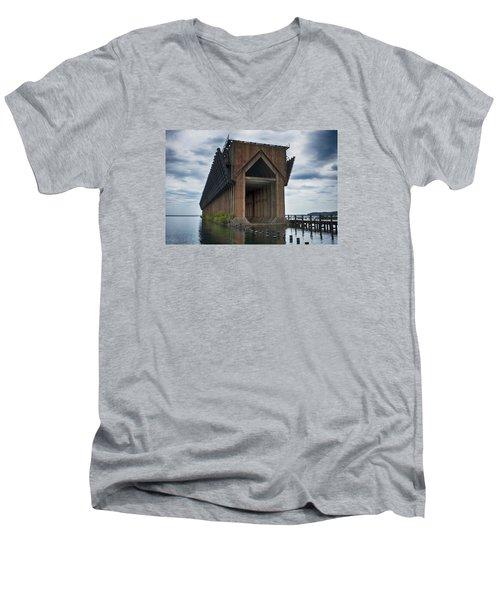 1971 Men's V-Neck T-Shirt by Dan Hefle