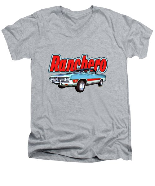 1971 Ford Ranchero At Three Palms - 5th Generation Of Ranchero Men's V-Neck T-Shirt