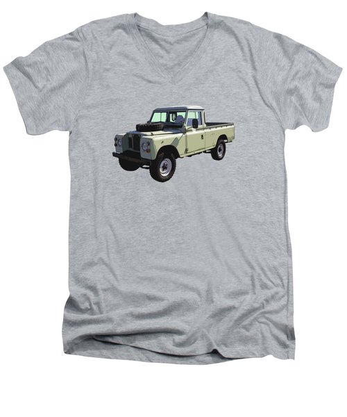 1971 Land Rover Pickup Truck Men's V-Neck T-Shirt by Keith Webber Jr