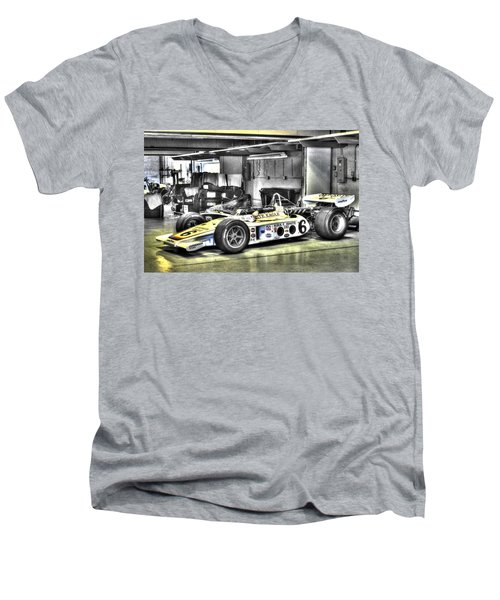 Bobby Unser 1972 Olsonite Eagle Pole Position Car  Men's V-Neck T-Shirt