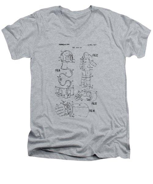 1973 Space Suit Elements Patent Artwork - Vintage Men's V-Neck T-Shirt