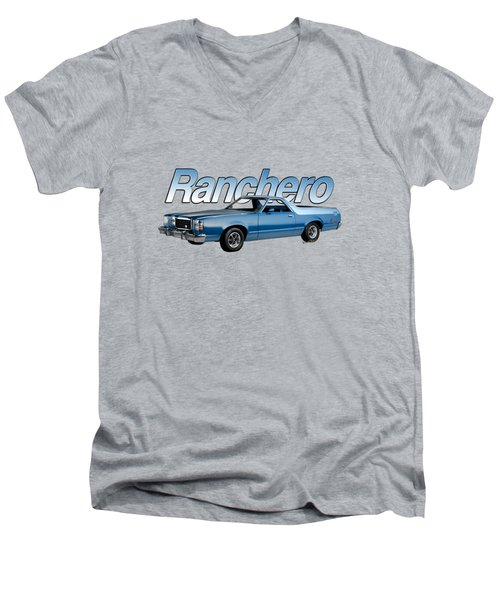 1979 Ranchero Watercolour Of The Last Sport Pickup Truck Men's V-Neck T-Shirt