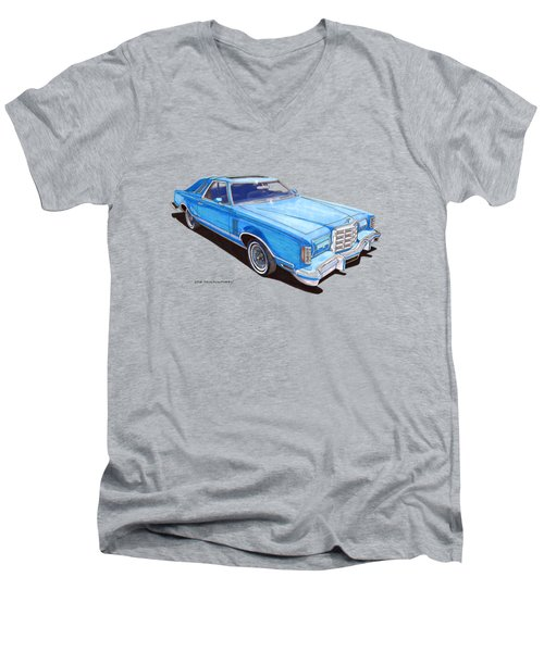 1979 Thunderbird Tee Shirt Art Men's V-Neck T-Shirt