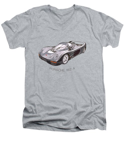 1994 Porsche 962 A Men's V-Neck T-Shirt