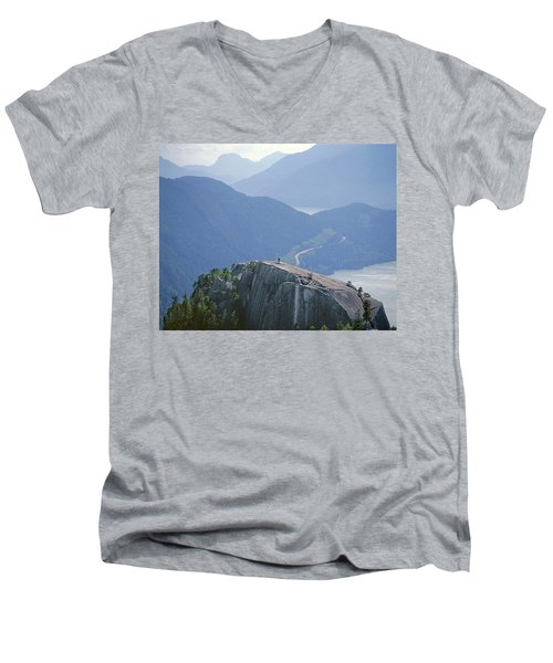1m2918 South Summit Stawamus Chief From Second Summit Men's V-Neck T-Shirt