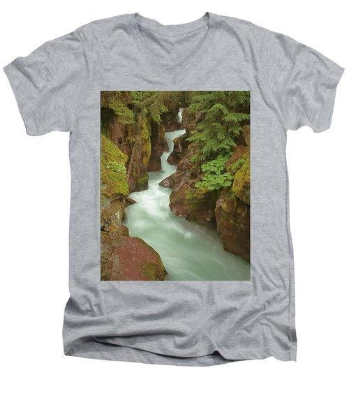 1m8115 Avalanche Gorge Mt Men's V-Neck T-Shirt