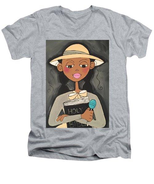 1st Sunday Men's V-Neck T-Shirt