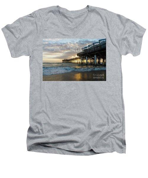 1st Sunrise 2017 Cocoa Beach Men's V-Neck T-Shirt