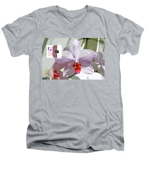 2-1-2057b Men's V-Neck T-Shirt