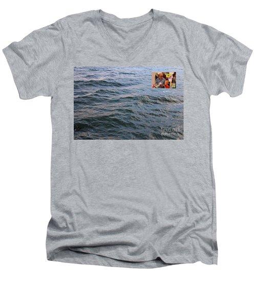 2-13-2057v Men's V-Neck T-Shirt
