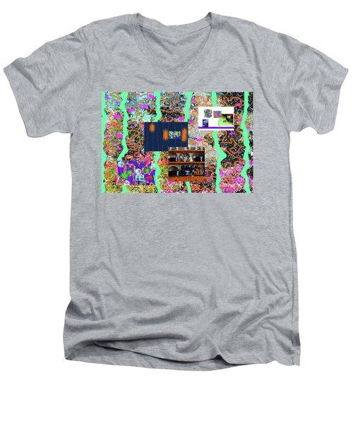 2-2-2057a Men's V-Neck T-Shirt