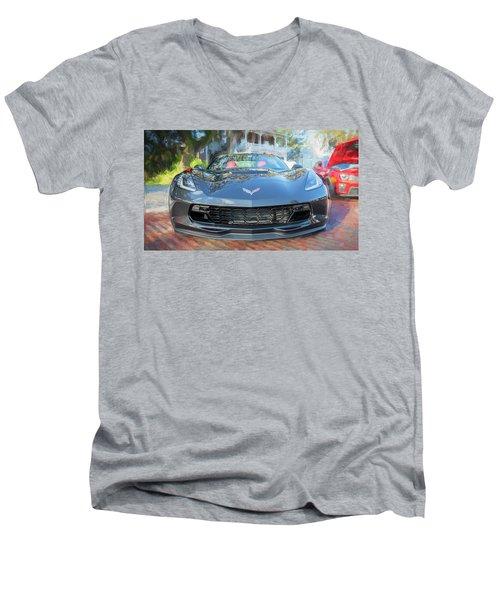 2017 Chevrolet Corvette Gran Sport  Men's V-Neck T-Shirt by Rich Franco
