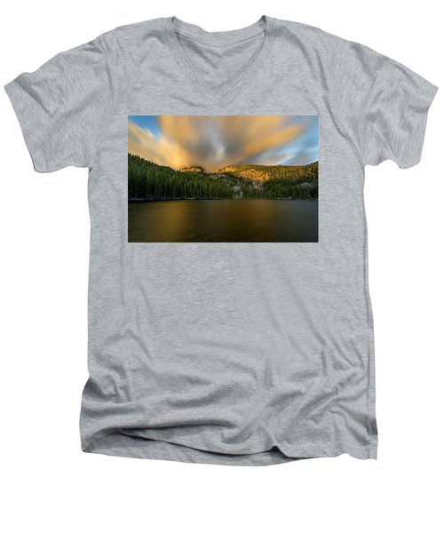 2 / 51  Bear Lake's Hallett Peak #2 Men's V-Neck T-Shirt
