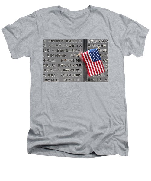 9-11 Memorial Rocky Point New York Men's V-Neck T-Shirt